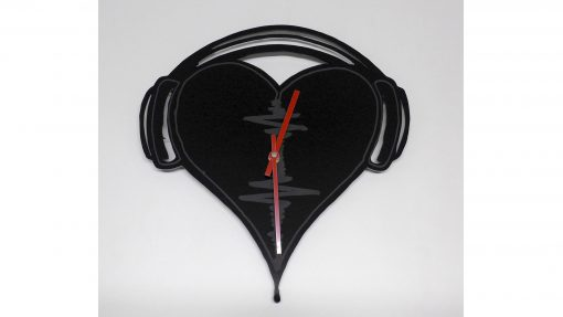 Reloj de pared Corazon cascos