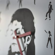 Reloj de pared Michael Jackson grabado