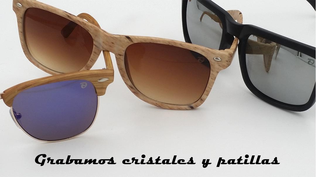 grabado en gafas de sol - cristales y patillas
